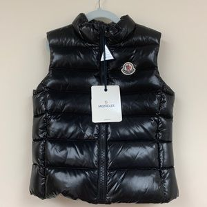 Moncler Kids Ghany Quilted Down Zip-Front Vest